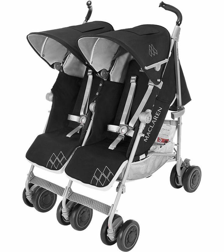 Maclaren 2016 Twin Techno Double Stroller Black Lovely