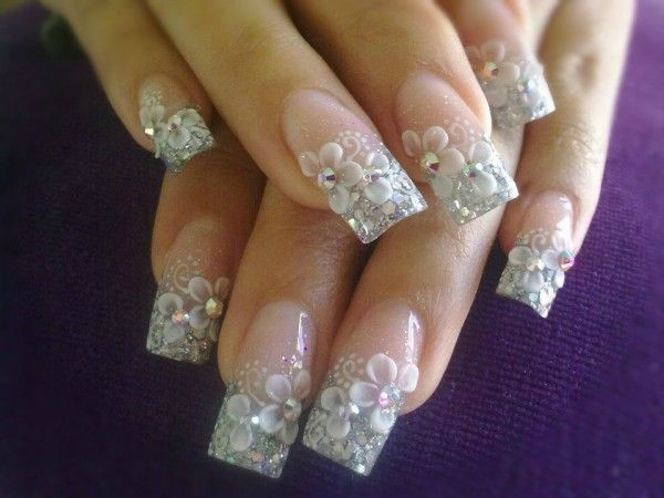 3d nail art designs gallery   ... nail-art-design-with-3d-flower-petals-decoration-for-girl-free-nail