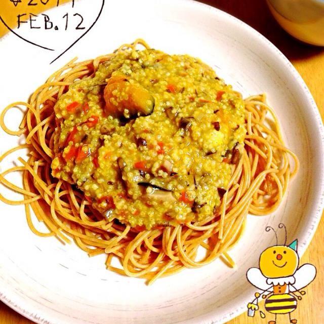 もちきびをライスミルクで煮るクリームパスタです。 根菜と南瓜を加えて栄養満点(o^^o)  パスタは全粒粉パスタを使っています。 しっかりした歯応えがやみつきになりますよ。 It is the cream pasta which boils a rice cake millet with rice milk. Ingredient materials are a root and pumpkins. - 67件のもぐもぐ - 南瓜のもちきびクリームパスタ Cream pasta of a pumpkin and the rice cake millet by 16chyoko