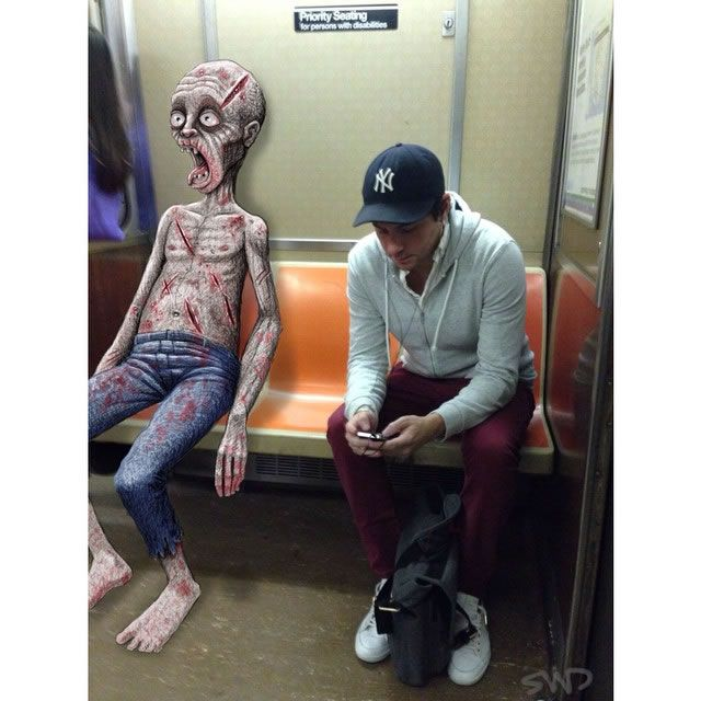 Subway Doodles By NYC Artist Ben Rubin Captures The Wonderfully Weirder Side Of The Subway Tracks -  #art #artist #nyc