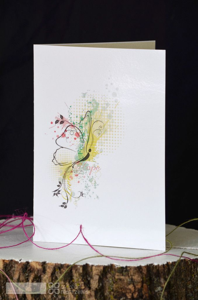"""GRAPH'L"" Butterfly Card in stock C$4.95"
