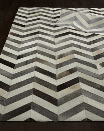 Windsor Chevron Hide Rug at Horchow.