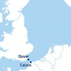Dover to Calais Ferry Route (DFDS)