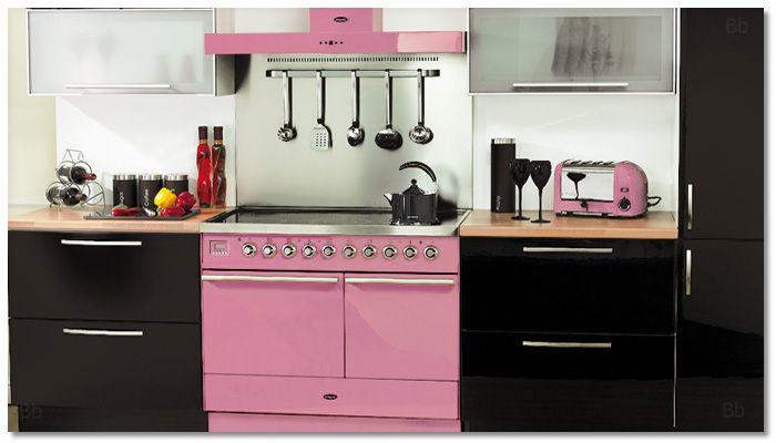 Pink Britannia range cooker and hood with a pink Dualit toaster!