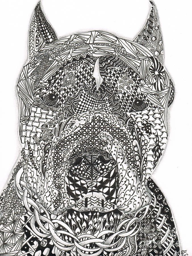 Pin By Courtney Sloper On Love Zentangle Dog Coloring