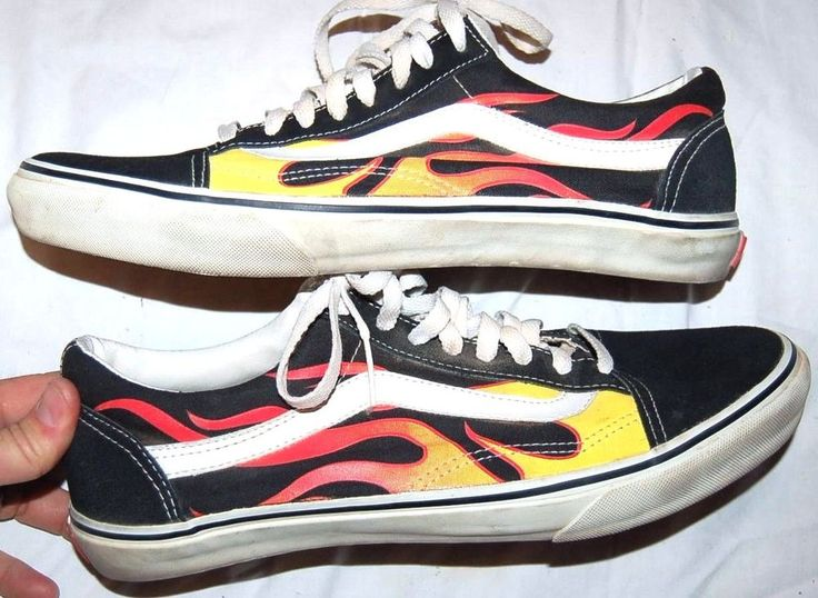 mens old school vans flame pattern shoes size 12 excellent vans shoes clothes pinterest. Black Bedroom Furniture Sets. Home Design Ideas