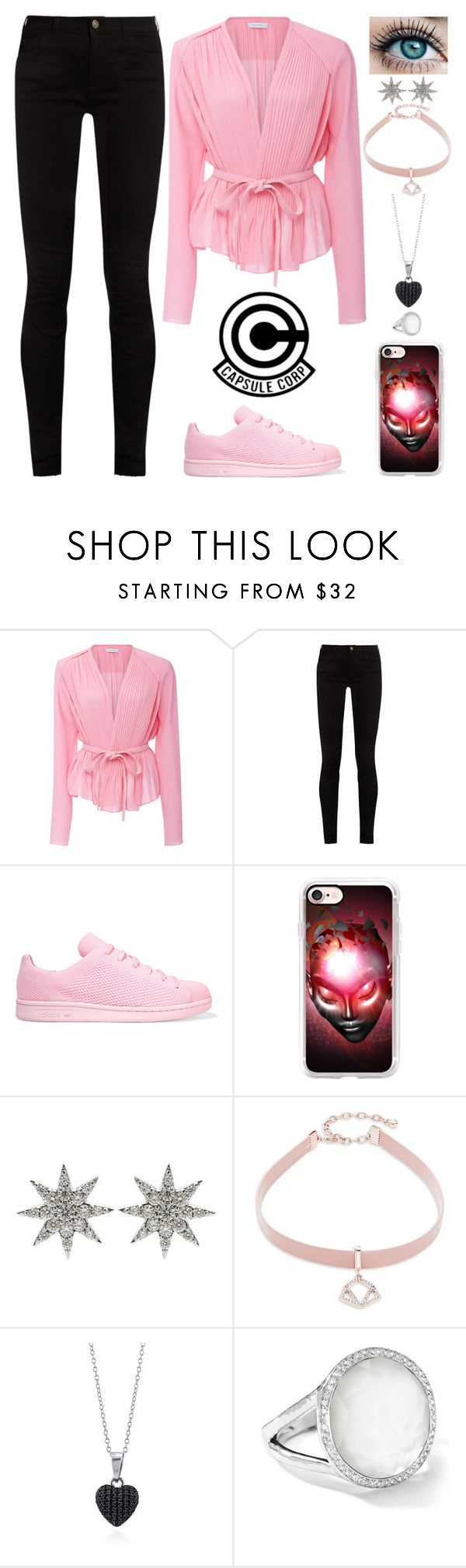 """""""Dragon Ball Inspired"""" by lucy-wolf ❤ liked on Polyvore featuring Carven, Gucci, adidas Originals, Casetify, Bee Goddess, Design Lab, BERRICLE and Ippolita"""