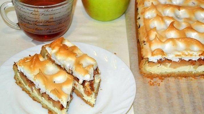 Хочу вам представить рецепт очень вкусного, очень сочного немецкого яблочного песочного пирога — нежного, ароматного десерта к чаю.