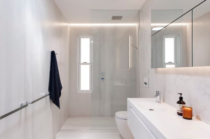small modern bathroom in white floating bathroom cabinet glass door shower room granite wall  of Beautiful Bathroom Organizers for Small Bathrooms Ideas