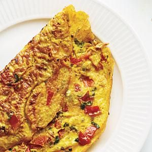 Omelet with Turmeric, Tomato, and Onions from Cooking Light   MyRecipes.com
