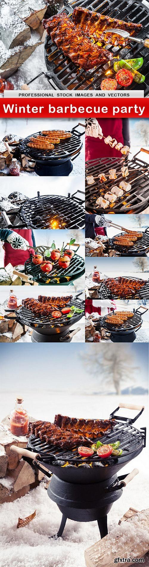 Winter barbecue party - 10 UHQ JPEG