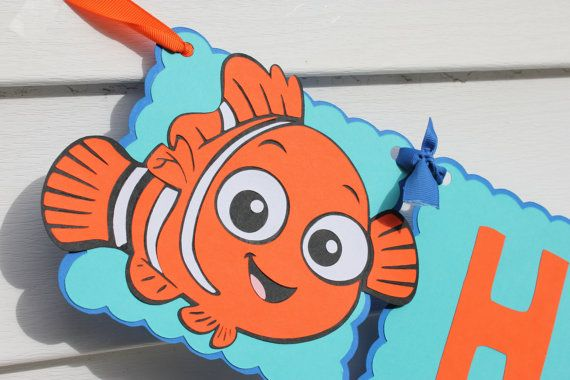 Finding Nemo Birthday Banner by cricutcrafter1 on Etsy, $25.00