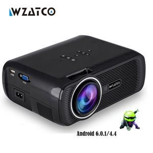 WZATCO CTL80 1800lu Portable Mini full HD 1080P TV LED 3D Projector Android 6.0 Wifi Smart Home Theater Beamer
