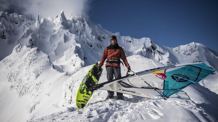Alpine windsurfing