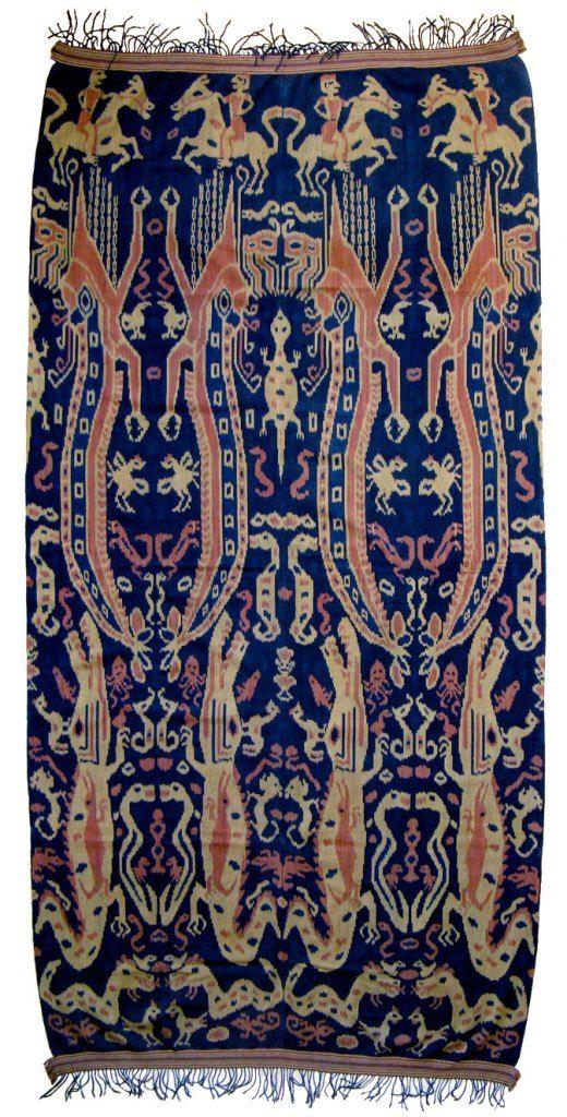 Ceremonial blanket, Sumba, Indonesia, 20th c.