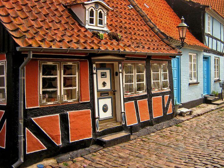 Half timbered house in Ærøskøbing.
