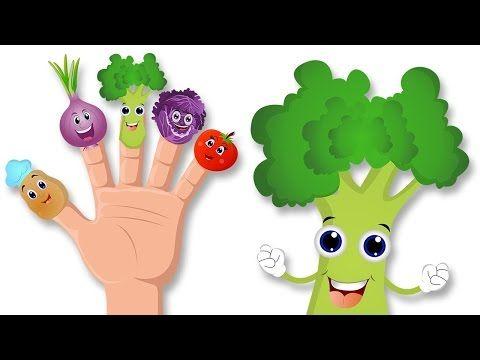 Dedo de verduras de la familia de la rima |  Aprender Vehículos para niños - YouTube