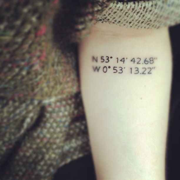 Coordinates of your favorite place. I would use Nali's birth location