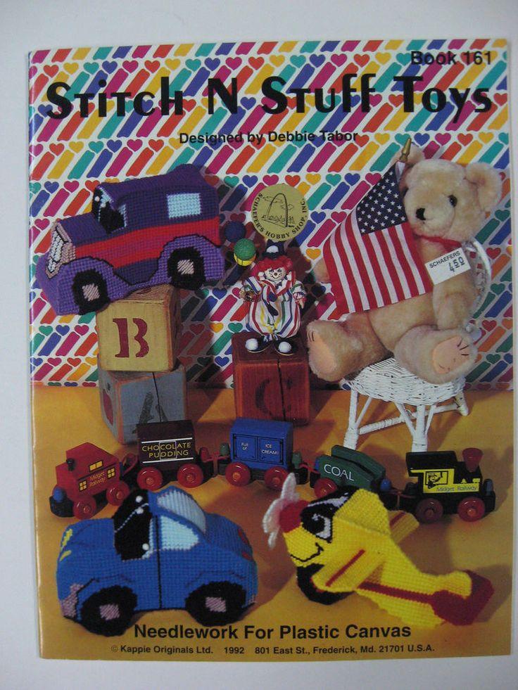 Plastic Canvas Patterns Book Stich N Stuff Toys Needlework 1990's 90's #KappieOriginals