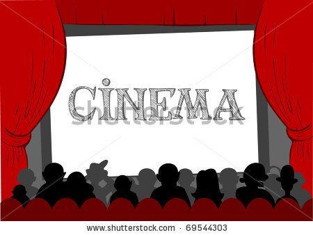 People watching movie at cinema hall, Vector illustration by Anastacia Zalevska, via Shutterstock