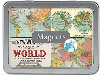 Cavallini Map Magnets