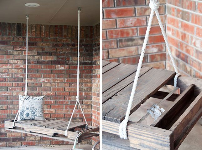 Porch Swing | Creative Ways to Repurpose Pallets