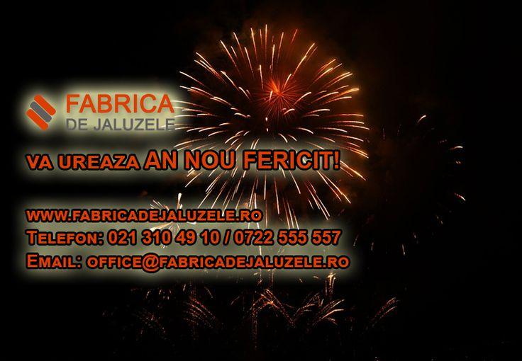 Va dorim AN NOU FERICIT, multa santate si fie ca toate dorintele sa vi se implineasca!!! - www.fabricadejaluzele.ro