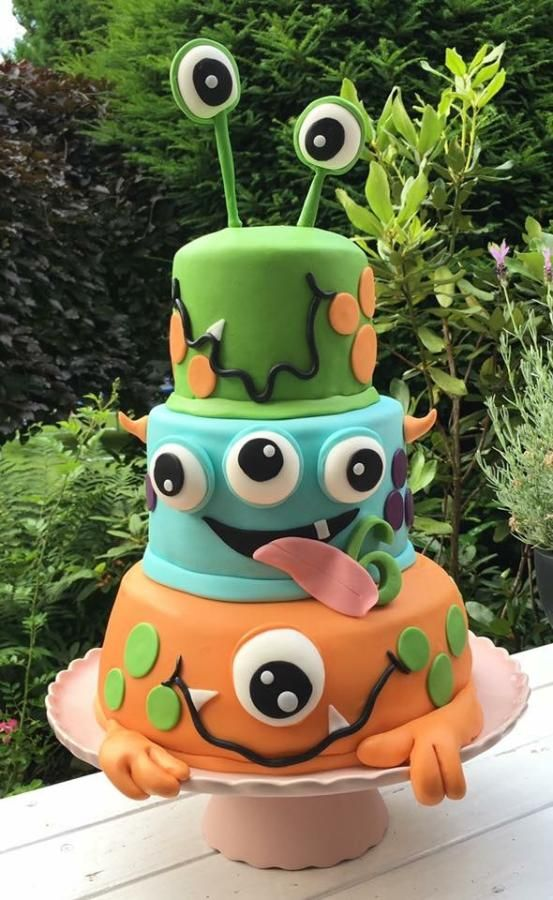 Monster Birthday cake - http://cakesdecor.com/cakes/292611-monster-birthday-cake