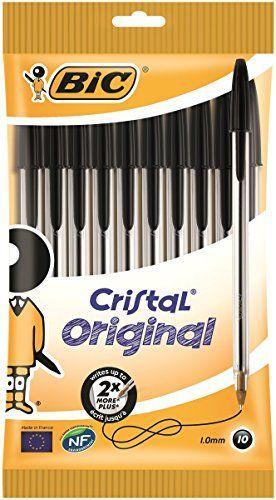 Bic Cristal Stic Medium Ball Pen, Black 10 ea BIC