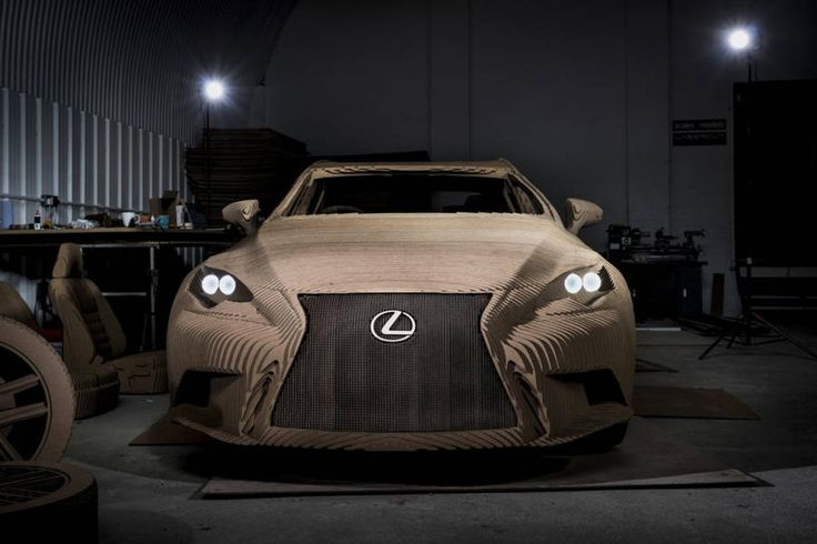 Lexus Origami Cardboard Car – Fubiz Media