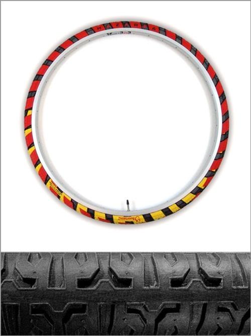Opony Hazarea 700x37C, Bike Tires, stroboscopic effect, reflective sidewalls