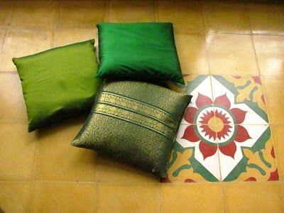 Cushions made of Khann cloth