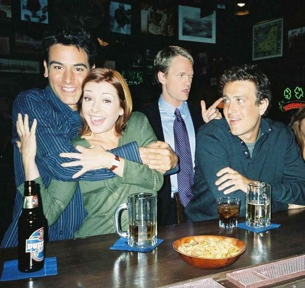 The pictures from the 'How I Met Your Mother' opening sequence.