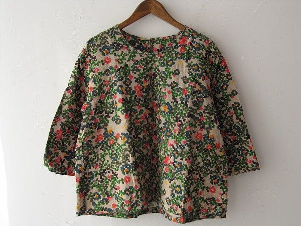 drop thrift shop purchase / Mina perhonen Actual purchase flower bedblouse / [drop]