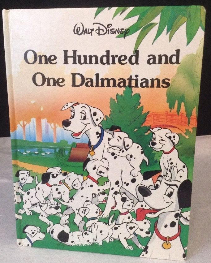Walt Disney's Classic 101 Dalmatians Mouse Works 1991 Book Hard Cover Storybook