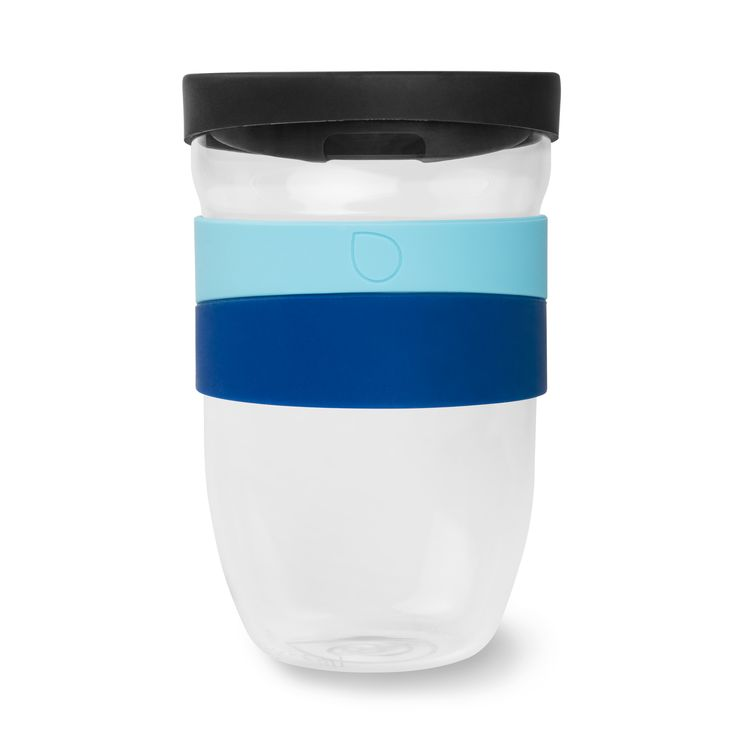 La Bontazza 12oz glass travel mug - The Cup of Goodness. Enjoy your favourite brew without sacrificing taste, or the earth. Borosilicate glass - BPA free - 100% non-toxic material - Microwave and dishwasher safe - Thermal sleeve - anti-splash Aromalid™ - www.labontazza.com
