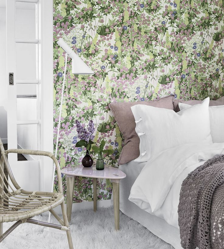 Sorbet Shades | Klover Wallpaper by Borastapeter | Jane Clayton Its so fresh, you feel like you have slept in a pretty meadow. For a sample visit our website and look at the whole collection. This is from Scandinavian designers collection 1.