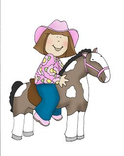 Free Dearie Dolls Digi Stamps: Cowgirl and Horse