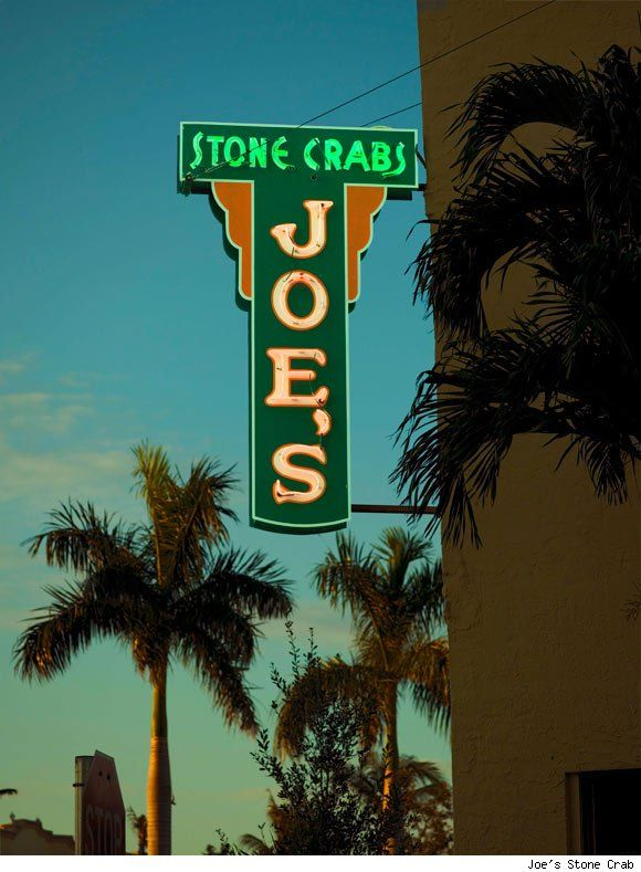 Joe's Stone Crab, founded in 1913 is the oldest restaurant in Miami launched when Joe Weiss opened a small lunch counter on Miami Beach, serving fish sandwiches and fries. Seven years later, Weiss began serving stone crabs fresh from the bay, along with hash brown potatoes, cole slaw, and mayonnaise—and charging 75 cents for a handful of crabs. Joe's continues to operate its own fleet of boats to bring in Florida Bay stone crabs (Miami Beach, Florida)