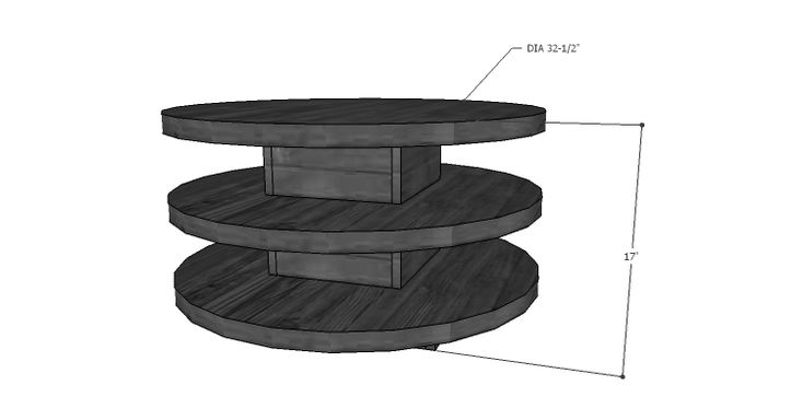 Round Coffee Table Building Plans - WoodWorking Projects & Plans