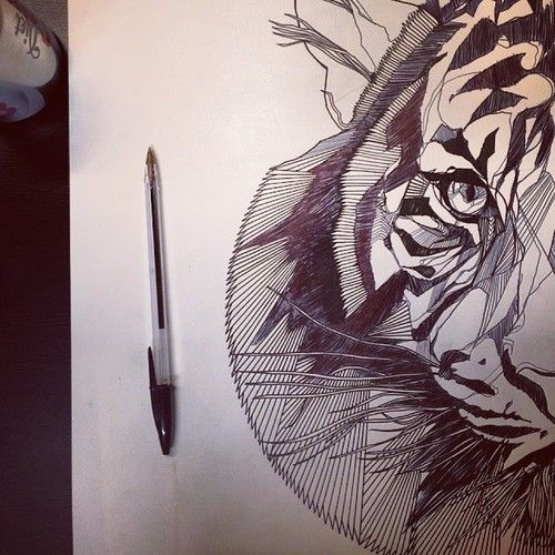 Insane skills!lukedixonartis our Tumblr illustrator of the day! http://wgsn.tumblr.com/tagged/graphics #thebearhugco #LukeDixon