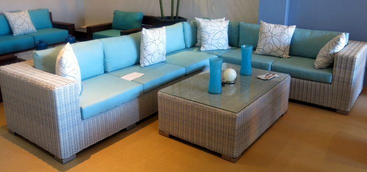 Modular corner unit with coffee table for indoor braai room