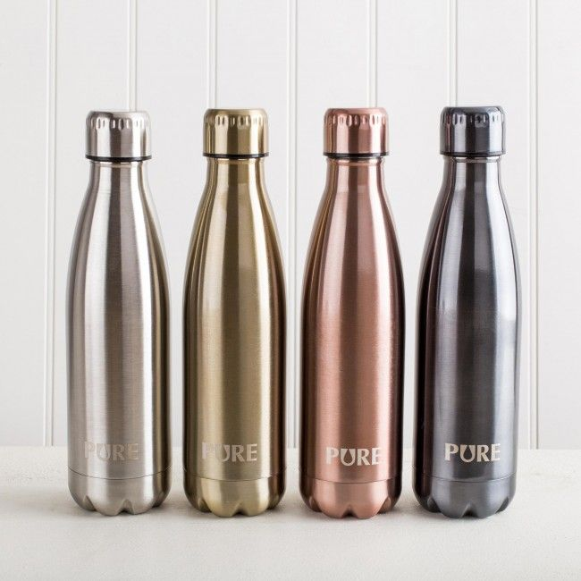 Stay hydrated with a Pure Thermal Water Bottle. The durable, double-wall stainless steel construction keeps your water cool while you're on the go.