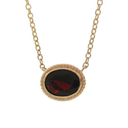 OVAL GARNET TESSA PENDANT   Penwarden Fine Jewellery - Jewelry - Jewelers Toronto Ontario GTA