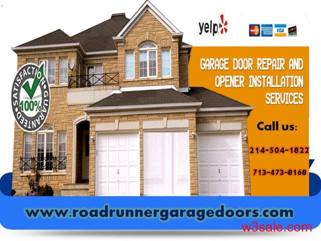 Provided Residential Garage Door Repair Service in Arlington, Texas -Quality garage door repair in the Greater Arlington area.  Click here to more details: http://www.roadrunnergaragedoors.com/new-residential-garage-doors.html  Call us: DFW: 214. 504.1822   Houston: 713.473.8168  #garagedoorrepairs
