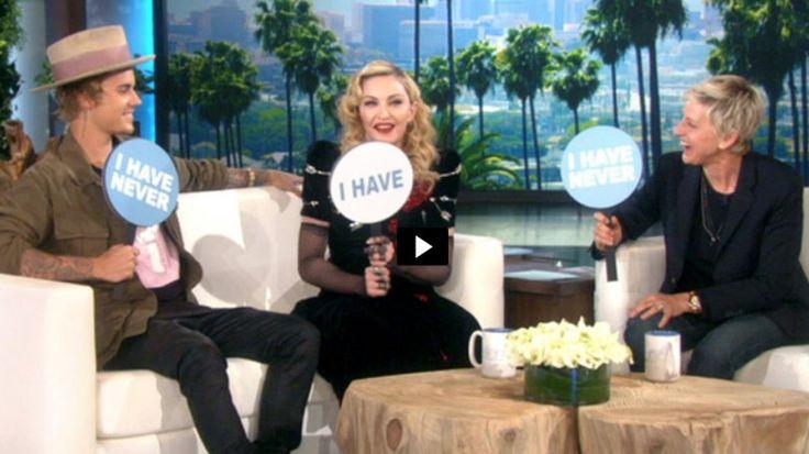 Sex-Secrets beim Partyspiel: Madonna und Justin Bieber bei Ellen DeGeneres