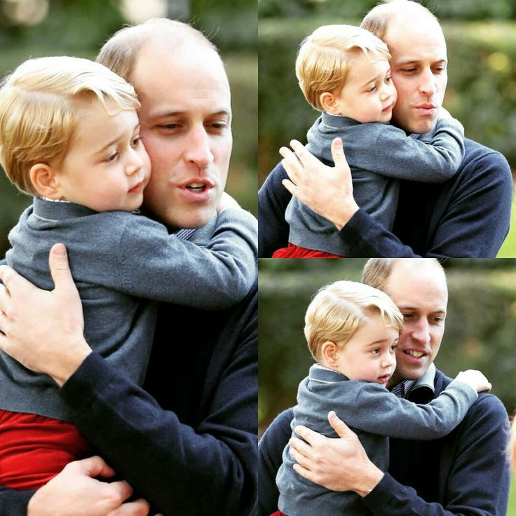 Daddy i love you.. william and George's precious moments