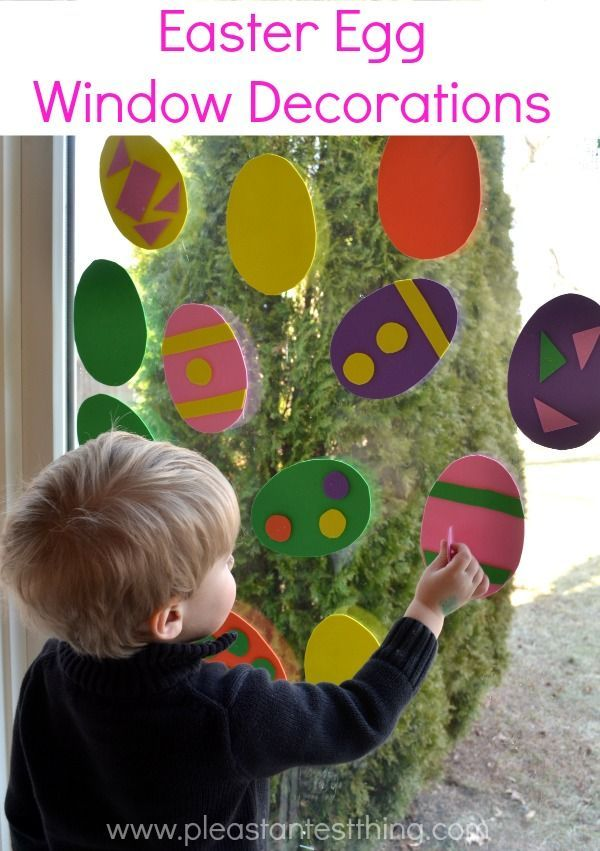 Easter Window Art - an Easter Egg craft project you can do again and again!
