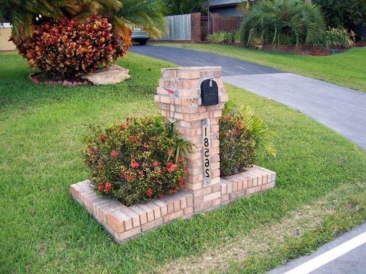 brick mailbox landscaping inspirations