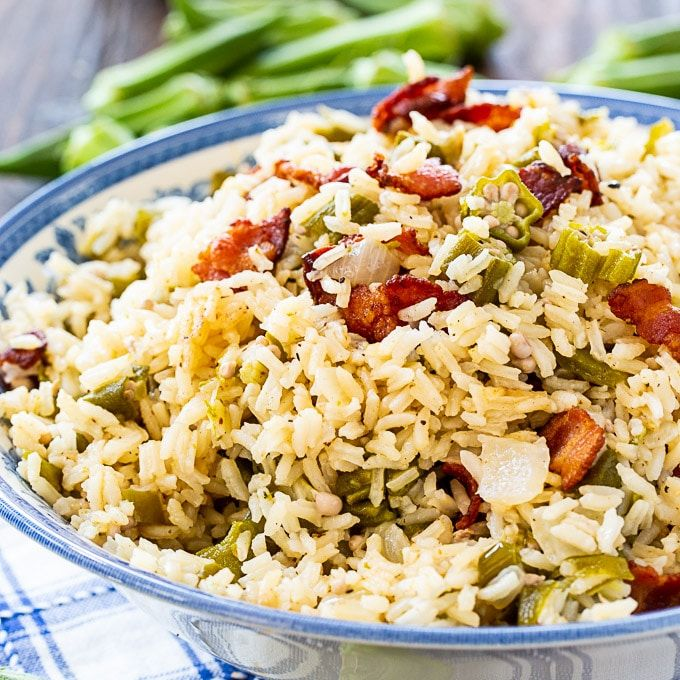 Okra Pilau Spicy Southern Kitchen Recipe Spicy Recipes Tomato Dishes Vegetable Side Dishes